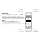 CONTRÔLEUR LED DMX DIGITAL RAIL DIN 1X12A
